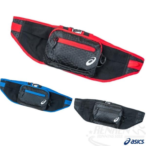 ASICS 亞瑟士 慢跑腰包 (黑*紅)  慢跑 路跑 單車適用 W54xH14cm