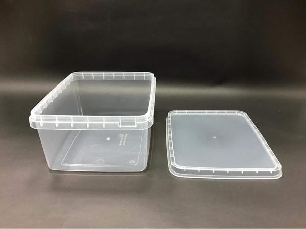 1入含蓋 八結蛋捲盒 餅乾盒 2000CC保鮮盒 PP盒 密封盒 透明塑膠盒 蛋捲桶 包裝盒【S040】