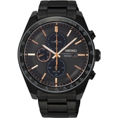 台灣獨賣 SEIKO 精工 Criteria 太陽能計時碼錶-黑/44mm V176-0AZ0O(SSC733P1)