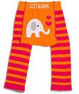 美國Izzy & Owie創意個性童裝 花漾彈性屁屁褲-橘紅大象