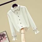 秋款女裝新款2020年潮流寬松韓版時尚氣質雪紡上衣仙女范長袖襯衫