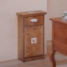 【免運&免組裝】*歐式鄉村凱撒單門垃圾箱-貼磚款(柚木色)-生活工場