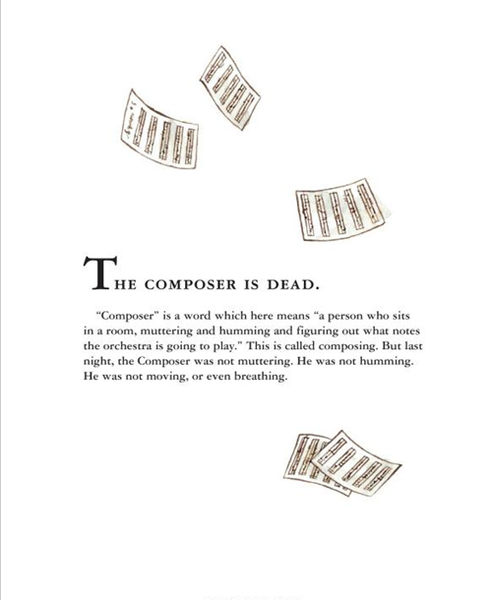 【麥克書店】THE COMPOSER IS DEAD /精裝繪本+CD ※廖彩杏老師推薦進階延伸書目※