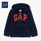 Gap女嬰兒logo拉鍊連帽休閒上衣511477-海軍藍色