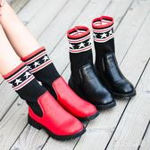 女童長筒靴 2018新款韓版女童長筒靴子兒童春秋過膝靴公主高筒馬丁鞋單靴 CP1470『寶貝兒童裝』