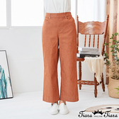 【Tiara Tiara】百貨同步新品ss 鬆緊腰純色休閒長褲(藍/橘)
