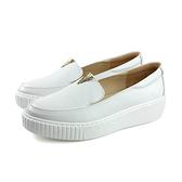HUMAN PEACE 休閒鞋 懶人鞋 白色 牛皮 女鞋 8519 no384
