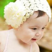 網紗玫瑰寬版髮帶 兒童髮飾 造型髮帶