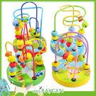 可愛卡通迷你小串珠繞珠動物底盤/益智玩具/木製玩具