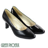 U23-20980女款真皮尖頭高跟鞋   俐落質感亮面/霧面牛皮尖頭高跟鞋【GREEN PHOENIX】