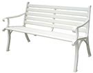 【 IS空間美學】鋁合金公園椅(白)...