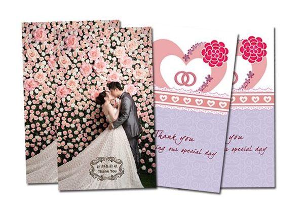 娃娃屋樂園~雙面設計式.緍紗照謝卡C款 每組350元/婚禮小物/二次進場/姊妹禮