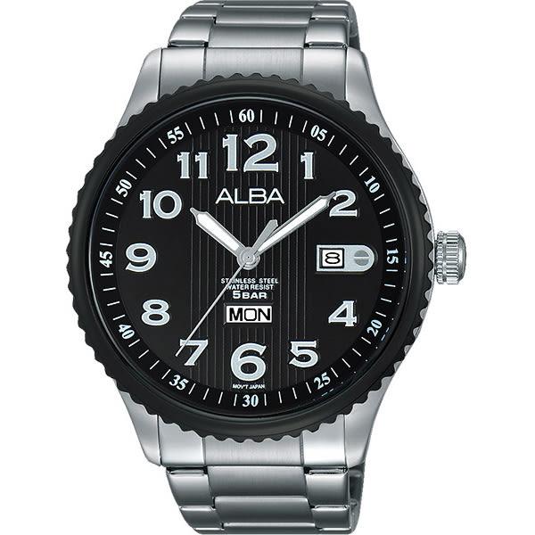 ALBA 雅柏 PRESTIGE 街頭酷流行手錶-黑/45mm VJ43-X036D(AV3507X1)