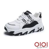 休閒鞋 簡約風尚增高厚底老爹鞋(黑) *0101shoes【18-B-3bk】【現+預】