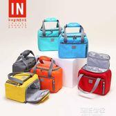 bagINBAG手提帆布飯盒袋保溫包鋁箔加厚便當袋小布包學生帶飯午餐『小淇嚴選』