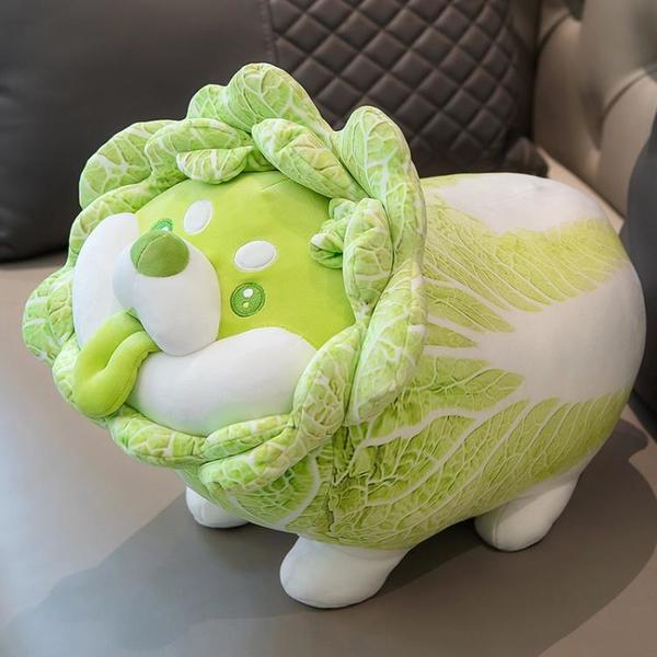 蔬菜精靈菜狗娃娃抱枕睡覺抱玩偶七夕生日禮物白菜狗公仔毛絨玩具 「青木鋪子」