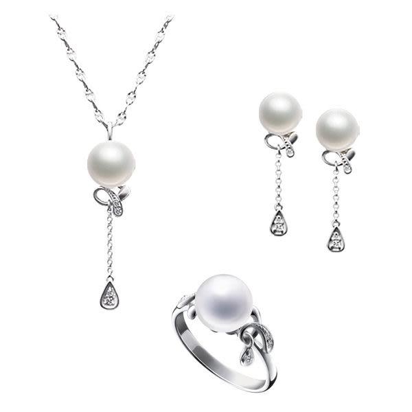 天然珍珠戒指 8mm D&D 品牌精品 迷幻流光系列