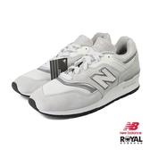 New Balance 新竹皇家 997 灰色 麂皮 網布 美製 LOGO可拆 休閒運動鞋 男款 NO.B0632