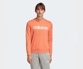 Adidas ESSENTIALS LINEAR SWEATSHIRT 女款橘色休閒長袖上衣-NO.EI0679
