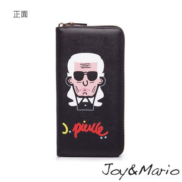 【Joy&Mario】J.Pierce普普風塗鴉款長夾 - B0080T BLACK