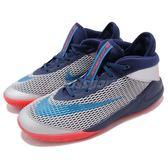 Nike Future Flight GS 藍 灰 中筒 女鞋 大童鞋 籃球鞋 球鞋推薦【PUMP306】 AH3430-401