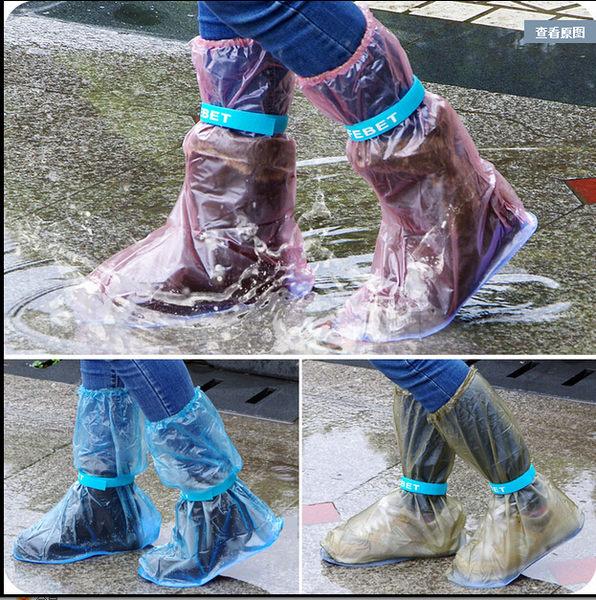 【TT】秋冬季防雨防水鞋套男女中高筒雨靴套加厚防滑鞋套兒童雨天雨鞋套