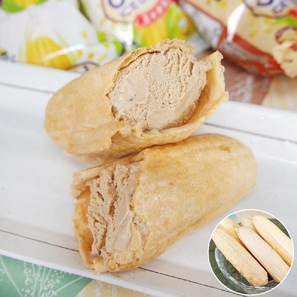 老爸ㄟ廚房.古早味玉米冰淇淋 花生口味 (55g/支,共十支)...愛食網