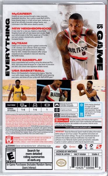 【玩樂小熊】現貨 Switch遊戲NS 美國職業籃球2K21 NBA 2K21 中文亞版