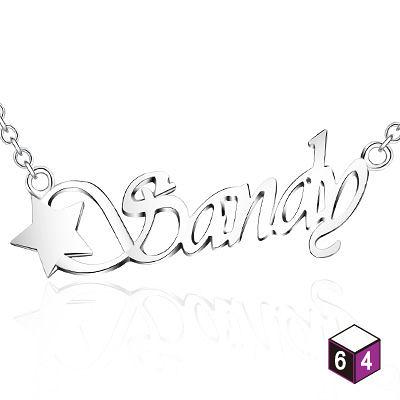 姓名/名字/字母項鍊 圖案款純銀項鍊(含鍊)-ART64銀飾訂製