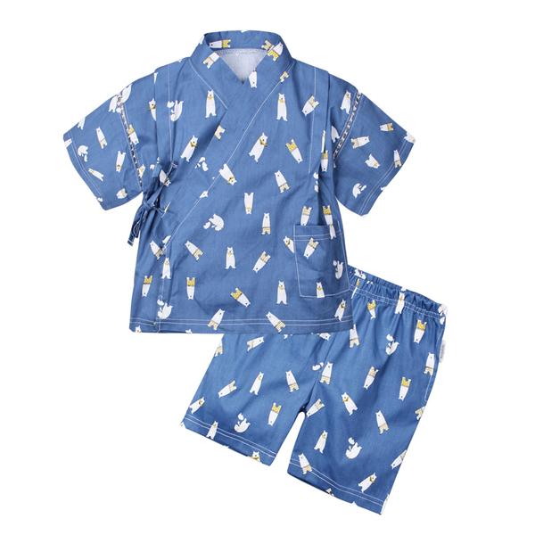 Augelute Baby童衣 棉麻日式和服套裝 和風 浴衣 上衣 短褲 男童 男寶寶 褲子 60157