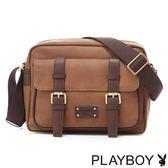 PLAYBOY- Florence Rabbit 佛羅倫斯系列 斜背包-古典棕