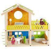 【免運費】《 德國 HAPE 愛傑卡 》娃娃屋系列 - 我的快樂小屋 ( 附家具 ) ╭★ JOYBUS玩具百貨
