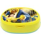 小禮堂 迪士尼 美女與野獸 橢圓形濕紙巾盒 抽取式紙巾盒 面紙盒 口罩盒 (黃 跳舞) 4903320-48361