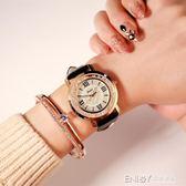 多倫茲流動水鑽女錶韓國時尚韓版潮流女學生皮帶防水石英手錶 溫暖享家