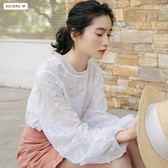 全館83折雪紡襯衫心機設計感小眾很仙的上衣氣質洋氣超仙仙氣襯衣女仙女范