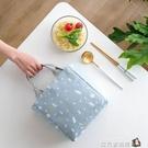 韓版束口飯盒袋子可愛簡約男女生帶飯的手提...