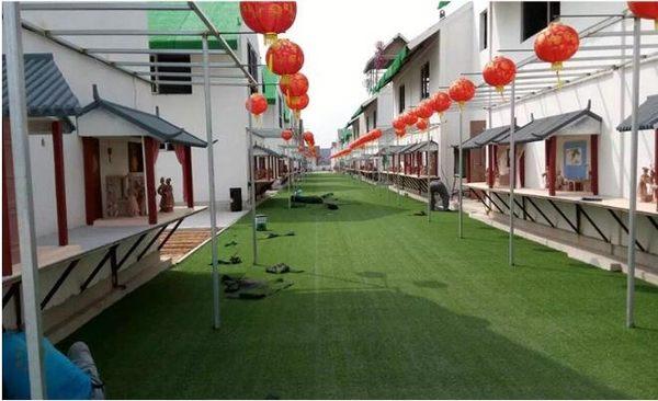仿真草坪人造草坪人工草皮塑料假草坪幼兒園學校裝飾加密綠色地毯  IGO