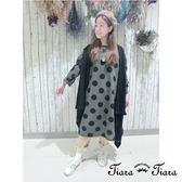 【Tiara Tiara】素色無袖麻花編針織罩衫(灰/黑)