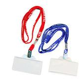 英字牌A33學生識別證套帶組 藍
