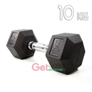 六角包膠啞鈴10公斤(10kg/舉重/重訓/伏地架/肌力訓練/握推/深蹲)