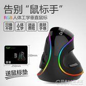 多彩垂直滑鼠有線RGB/無線筆記本家用人體工程學滑鼠電腦通用USB.igo 概念3C旗艦店