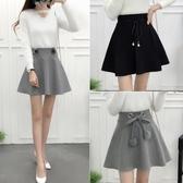 裙褲半身裙秋冬女正韓蓬蓬裙a字型冬季短裙呢子加厚褲裙