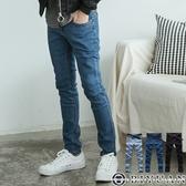 超彈力窄版牛仔褲【JN3207】OBIUYAN 素面長褲 丹寧休閒褲 共3色