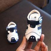 2018夏季男童寶寶學步涼鞋1-3歲包頭女童軟底防踢嬰兒不掉亮燈鞋   初見居家