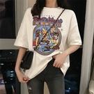 短袖女2021夏季新款韓版白色t恤女cee寬鬆上衣半袖純棉體恤ins潮 依凡卡時尚