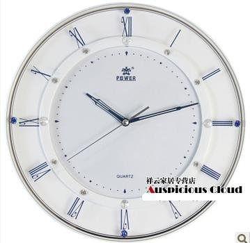 簡約掛鐘客廳電子靜音時鐘14寸歐式
