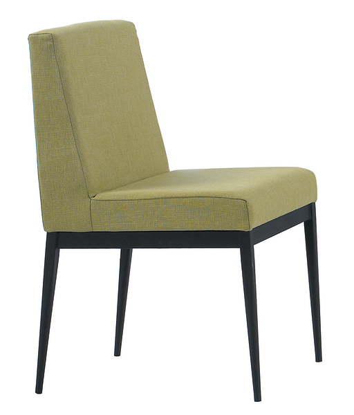 【 IS空間美學】卡特黑腳布餐椅-棕色