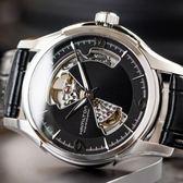 HAMILTON 漢米爾頓 JAZZMASTER 爵士黑皮革機械腕錶 H32565735 熱賣中!