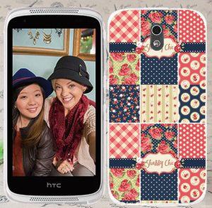 ♥ 俏魔女美人館 ♥ {花樣方格*水晶硬殼} HTC Desire 526G+手機殼 手機套 保護套