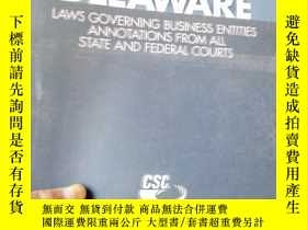 二手書博民逛書店DELAWARE罕見LAWS GOVERNING BUSINES